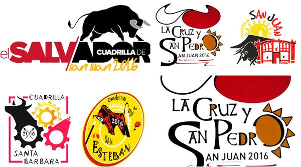 logotipos cuadrillas fiestas de san juan 2016