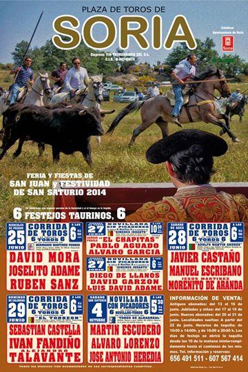 Cartel Feria Taurina Soria 2014
